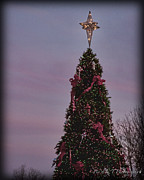 Franklin Tennessee Prints - Christmas Tree at Dusk Print by Pic