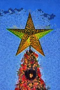 Christmas Star Posters - Christmas tree by dusk time Poster by George Atsametakis