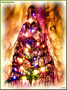 Lights Digital Art Originals - Christmas tree by Daniel Janda