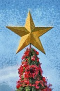 Christmas Star Posters - Christmas tree Poster by George Atsametakis
