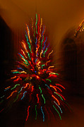 Holidays Pyrography - Christmas tree light squiggles by Daniela Di Giuliomaria-Giangrande