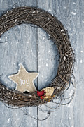 Christmas Natural Posters - Christmas Wreath Poster by Christopher and Amanda Elwell