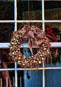 Ribbon Framed Prints - Christmas Wreath Framed Print by Darren Fisher