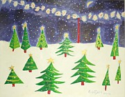 Christmas Greeting Originals - Christmastime by Allison  Fauchier