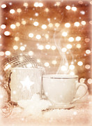 Christmastime Coffee Print by Anna Omelchenko