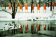 Installation Art Art - Christo - The Gates - Project for Central Park reflection in wat by Nishanth Gopinathan