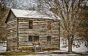 Old Wood Cabin Posters - Christopher Taylor House Poster by Heather Applegate