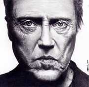 Christopher Drawings - Christopher Walken by Rick Fortson