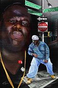 African-american Painting Metal Prints - Christopher Wallace Way - Biggie Metal Print by Reggie Duffie