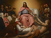 Charity Painting Metal Prints - Christus Consolator Metal Print by Ary Scheffer