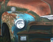Rusty Truck Paintings - Chrome by Blanche Guernsey