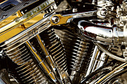 Harley Davidson Photos - Chrome by Dennis Hedberg