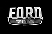 Chrome Jet Framed Prints - Chrome Ford 700 Emblem Framed Print by Tom Druin