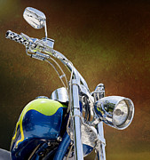 Chrome Handles Posters - Chrome Handlebars Poster by Bill Tiepelman