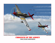 Tuskegee Airmen Prints - Chronicle Of The Airmen The Good Shepards Print by Jerry Taliaferro