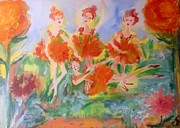 Ballet Dancers Paintings - Chrysanthemum dance by Judith Desrosiers