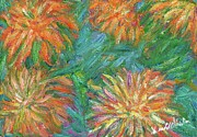 Impressionism Originals - Chrysanthemum Shift by Kendall Kessler