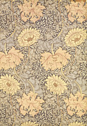 Yellow Tapestries - Textiles Prints - Chrysanthemum Print by William Morris