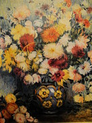 Adoration Originals - Chrysanthemums by Gudrun Hirsche