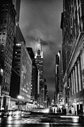 Nyc Skyline Framed Prints - Chrysler Buiilding in mist Framed Print by John Farnan