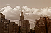 Skylines Metal Prints - Chrysler Building and the New York City Skyline Metal Print by Vivienne Gucwa