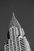 Building Metal Prints - Chrysler Building BW Metal Print by Susan Candelario
