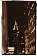 City Scape Photo Posters - Chrysler Building Poster by Donna Blackhall
