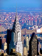Midtown Painting Posters - Chrysler Building in midtown Manhattan  Poster by Lanjee Chee