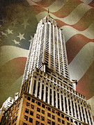 Chrysler Posters - Chrysler Building Poster by Mark Rogan