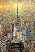 Chrysler Building Digital Art Metal Prints - Chrysler Building New York City 20130425 Metal Print by Wingsdomain Art and Photography