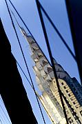 Structures Photo Framed Prints - Chrysler Building Framed Print by Tony Cordoza