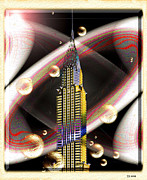 Chrysler Building Digital Art Originals - Chrysler by Daniel Janda