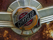 Rusted Cars Posters - Chrysler Poster by Jean Noren