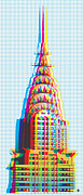 Chrysler Building Digital Art Metal Prints - Chrysler POP Art Metal Print by Gary Grayson