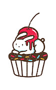 Cupcake Framed Prints - Chubby bunny on cupcake Framed Print by Budi Satria Kwan