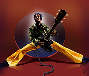 Entertainer Paintings - Chuck Berry - This Is How we Do It by Reggie Duffie