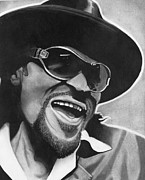 Music Legend Drawings - Chuck Brown  by Jason Dunning