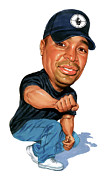 Caricature Paintings - Chuck D by Art