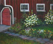 Eagle Mills Paintings - Chucks Barn by  Sandra  Hansen