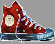 Foot Wear Prints - Chucks Print by Cheryl Young