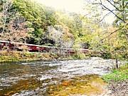 Chug Along The River Print by Allicat Photography