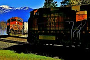 Sandpoint Photos - Chugging Past by Benjamin Yeager
