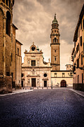 Silvia Ganora - Church and bell tower in...