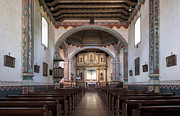 Altars Posters - Church at Mission San Luis Rey Poster by Sandra Bronstein