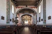 Church At Mission San Luis Rey Print by Sandra Bronstein