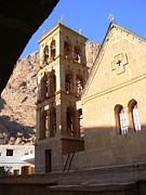 Sinai Monastery Framed Prints - Church at St. Catherines Framed Print by Katerina Naumenko