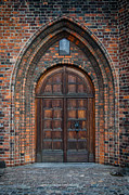 Medieval Temple Photo Prints - Church Door Print by Antony McAulay