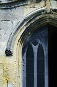 Medieval Entrance Prints - Church Door Detail Print by Jill Battaglia