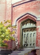 Todd Derr Prints - Church Door Print by Todd Derr