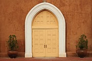 Church Doors Print by Ashley Mann